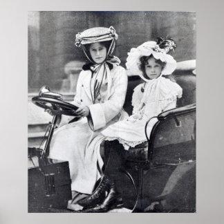 Duquesa de Millicent de Sutherland y su hija Póster