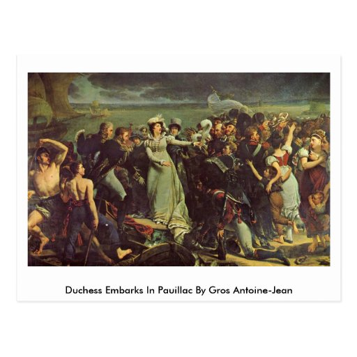 Duquesa Embarks In Pauillac By Gros Antoine-Jean Tarjetas Postales