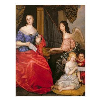 Duquesa La Valliere de Francoise Louise con Tarjeta Postal