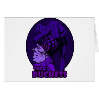 Duquesa Logo Purple Tarjeta De Felicitación