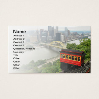 Duquesne Incline in Pittsburgh, Pennsylvania Business Card