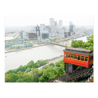 Duquesne Incline in Pittsburgh, Pennsylvania Postcard