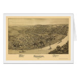 Duquesne, mapa panorámico del PA - 1897 Tarjeta De Felicitación