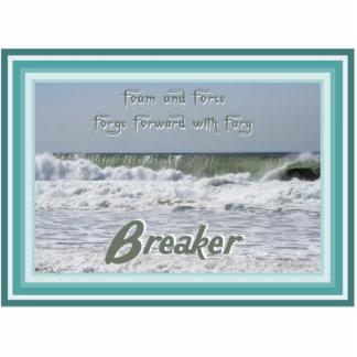 Durable Acrylic Wave breaker haiku art magnet