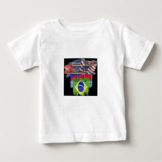Durable baby romper, multicolored hides dribbles tee shirt