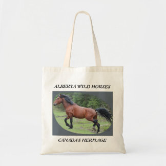 Durable shopping tote with 100% wild horse power!