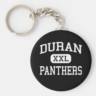 Duran - panteras - joven - ciudad Alabama de Pell Llavero Redondo Tipo Pin