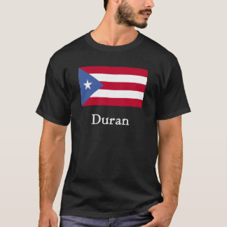 Duran Puerto Rican Flag Blk T-Shirt
