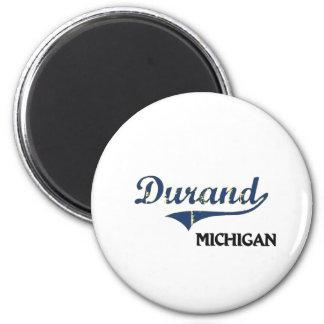 Durand Michigan City Classic Fridge Magnet