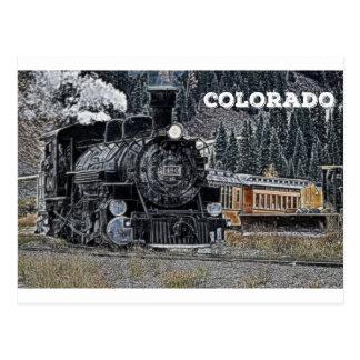 Durango 1881 y ferrocarril del indicador estrecho postal