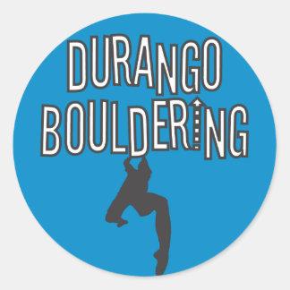 Durango Bouldering Round Sticker