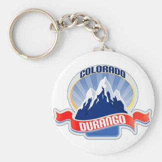 Durango Colorado Basic Round Button Keychain