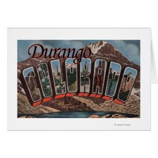 Durango, Colorado - escenas grandes de la letra Tarjeta De Felicitación