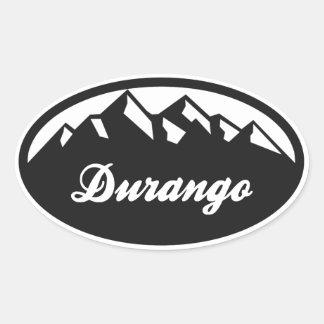 Durango Colorado Calcomania Oval