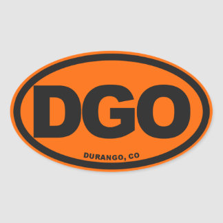 Durango Colorado Pegatinas De Oval Personalizadas