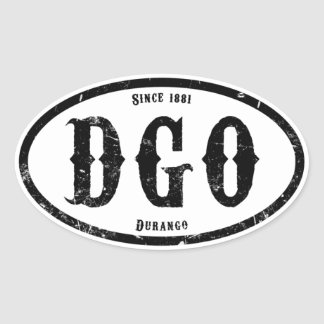 Durango Colorado Calcomania De Óval