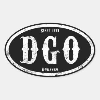 Durango Colorado Calcomania De Oval