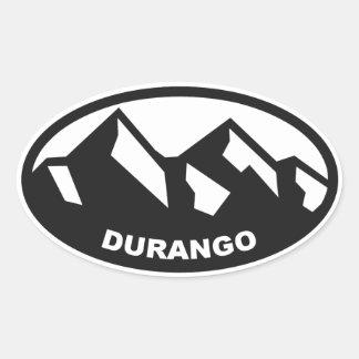 Durango Colorado Calcomanías Ovaladas