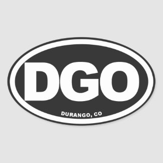 Durango Colorado Calcomanías De Ovales Personalizadas
