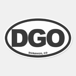 Durango Colorado Calcomanía Óval Personalizadas