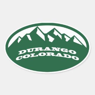 Durango Colorado Pegatina De Oval