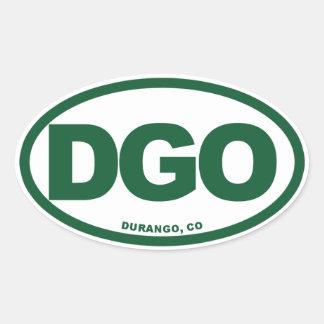 Durango Colorado Pegatinas De Óval