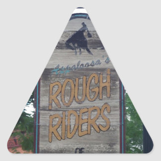 Durango Colorado Rough Riders Pegatina Triangular