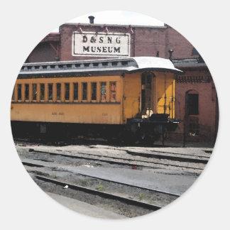 Durango Colorado Train Station Classic Round Sticker