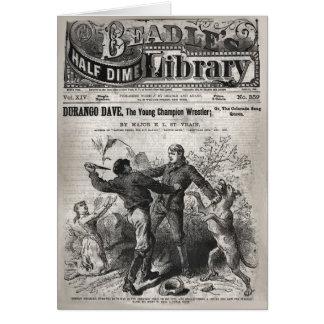 Durango Dave - media biblioteca 1904 de la moneda Tarjeta De Felicitación