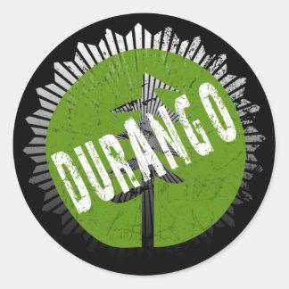Durango Decay Logo Classic Round Sticker