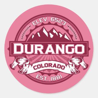 Durango Logo Honeysuckle Classic Round Sticker