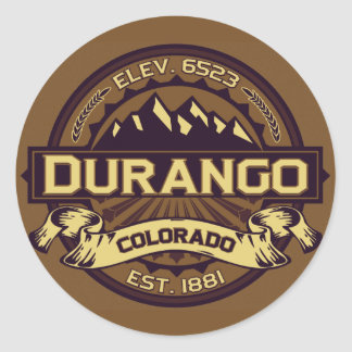 Durango Logo Sepia Round Sticker