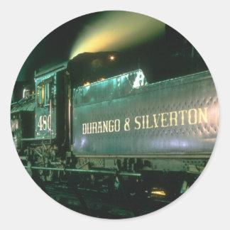 Durango & Silverton No. 480 poses on the turntable Classic Round Sticker