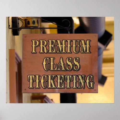 Durango & Silverton Railroad Ticketing Sign Poster