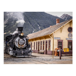 Durango Silverton Train at the Silverton Depot Postcard
