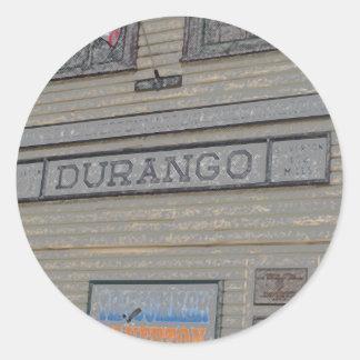 Durango Train Station Classic Round Sticker