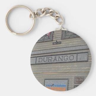 Durango Train Station Basic Round Button Keychain