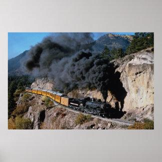 Durango y ferrocarril de Silverton, no. 481, Cree  Poster