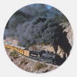 Durango y ferrocarril de Silverton, no. 481, Cree Pegatina Redonda