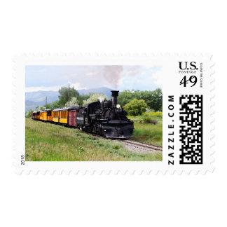 Durango y pista de los controles del ingeniero de timbre postal