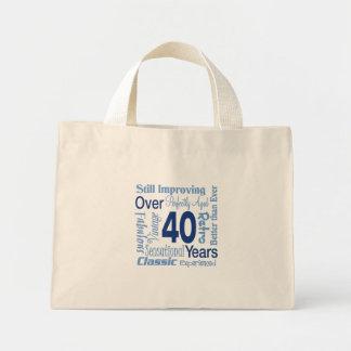 Durante 40 años de 40.o cumpleaños bolsa tela pequeña