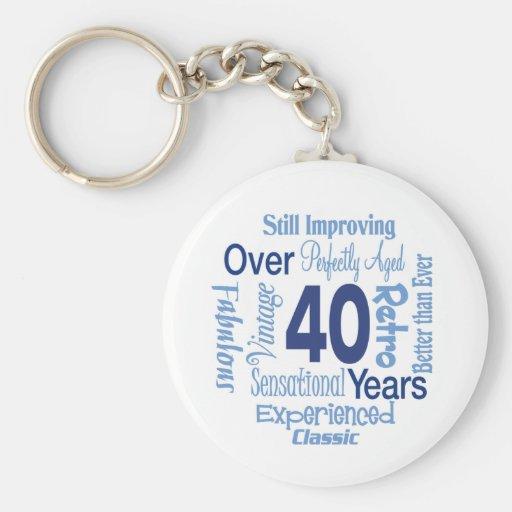 Durante 40 años de 40.o cumpleaños llavero