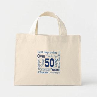 Durante 50 años de 50.o cumpleaños bolsa tela pequeña