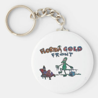 Durante and Friends in Florida Cold Front Basic Round Button Keychain