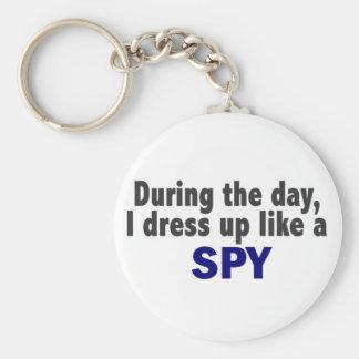 Durante el día me visto para arriba como un espía llaveros