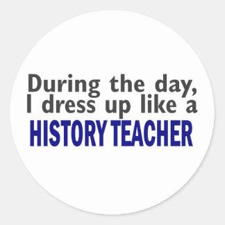 Durante el día (profesor de la historia) etiqueta redonda