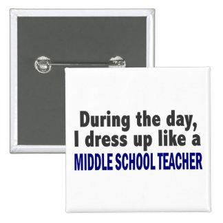 Durante el día visto para arriba al profesor de es pin cuadrada 5 cm