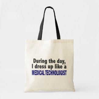 Durante el día visto para arriba al tecnólogo médi bolsas de mano