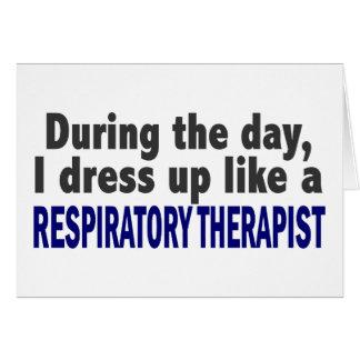 Durante el día visto para arriba al terapeuta resp tarjeta de felicitación