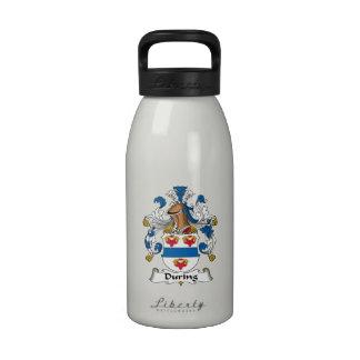 Durante el escudo de la familia botella de agua reutilizable